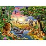 Puzzle  Ravensburger-13073 Soirée à l'Abreuvoir