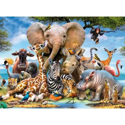 Puzzle Ravensburger-13075 Bébés Animaux de la Jungle