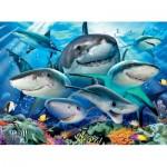 Puzzle  Ravensburger-13225 Pièces XXL - Requins rieurs