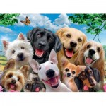 Puzzle  Ravensburger-13228 Pièces XXL - Delighted Dogs