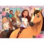 Puzzle  Ravensburger-13252 Pièces XXL - DreamWorks - Spirit Riding Free