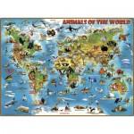Puzzle  Ravensburger-13257 Pièces XXL - Les Animaux du Monde Entier