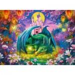 Puzzle  Ravensburger-13258 Pièces XXL - Forêt Enchantée du Dragon