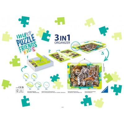 Puzzle Ravensburger-13265 Boîte de Tri 3 en 1 - 100 - 300 Pièces XXL - Green
