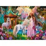 Ravensburger-13617 Pièces XXL - Puzzle Brillant - Princesse avec Licorne