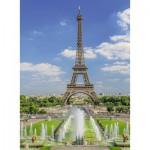 Puzzle  Ravensburger-13643 Pièces XXL - Vue sur la Tour Eiffel