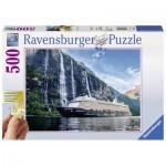 Puzzle  Ravensburger-13647 Pièces XXL - Mein Schiff 4 im Fjord