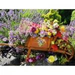 Puzzle  Ravensburger-13685 Pièces XXL - Brouette de Fleurs