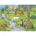 Puzzle  Ravensburger-13696 Pièces XXL - Animaux de la Ferme