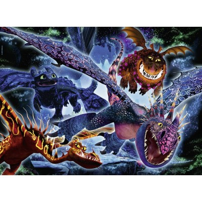 Puzzle Ravensburger-13710 Color Star Line - Pièces XXL - Dragon
