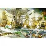 Puzzle  Ravensburger-13969 Bataille en Haute Mer