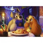 Puzzle  Ravensburger-13972 Disney - La Belle et le Clochard