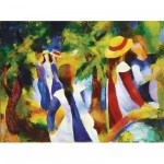 Puzzle  Ravensburger-14024 Macke : Jeunes filles sous les arbres