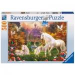 Puzzle  Ravensburger-14195 Licornes magiques