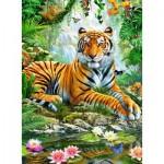 Puzzle  Ravensburger-14742 Tigre dans la Jungle