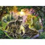Puzzle  Ravensburger-14745 Famille de Loups