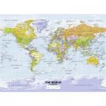 Puzzle  Ravensburger-14755 Carte du Monde Politique en Anglais