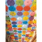 Puzzle  Ravensburger-14765 Parapluies Colorés