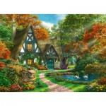 Puzzle  Ravensburger-14792 Cottage en Automne