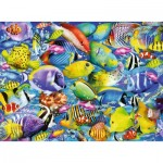 Puzzle  Ravensburger-14796 Embouteillage Tropical