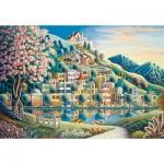 Puzzle  Ravensburger-14798 Parc Fleuri