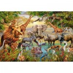 Puzzle  Ravensburger-14809 Animaux au Point d'Eau