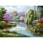 Puzzle  Ravensburger-14827 Romance à l'étang