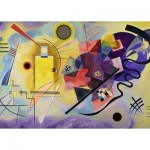 Puzzle  Ravensburger-14848 Vassily Kandinsky - Jaune, Rouge, Bleu
