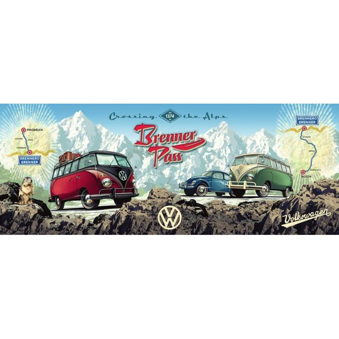 Avec la VW Bulli sur le Brenner