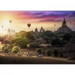 Puzzle  Ravensburger-15153 Montgolfières sur Myanmar