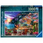 Puzzle  Ravensburger-15263 Dîner à Positano, Italie