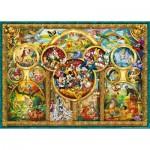 Puzzle  Ravensburger-15266 Le Monde Magique de Disney en Médaillon