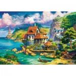 Puzzle  Ravensburger-15273 Cottage sur la Falaise