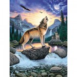 Puzzle  Ravensburger-15360 Hurlements de loup