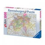 Puzzle  Ravensburger-15367 Carte de la Suisse