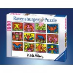 Puzzle  Ravensburger-15615 Keith Haring : Rétrospective