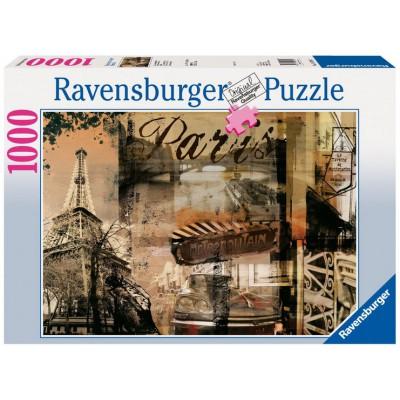 Puzzle Ravensburger-15729 France : Paris nostalgique