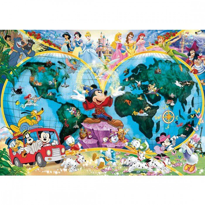 Mappemonde : Le Monde de Disney
