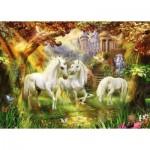 Puzzle  Ravensburger-15992 Licornes dans la Forêt