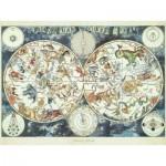 Puzzle  Ravensburger-16003 Mappemonde des Animaux Fantastiques