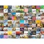 Puzzle  Ravensburger-16007 99 Vélos et Plus...