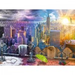 Puzzle  Ravensburger-16008 Les Saisons à New York