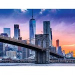 Puzzle  Ravensburger-16011 De Brooklyn à Manhattan
