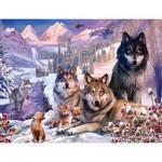 Puzzle  Ravensburger-16012 Loups dans la Neige