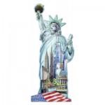 Ravensburger-16151 Puzzle Silhouette - Statue de la Liberté