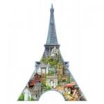 Ravensburger-16152 Puzzle Silhouette - Tour Eiffel