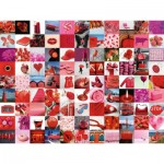 Puzzle  Ravensburger-16215 Beautiful Red Things