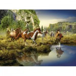Puzzle  Ravensburger-16304 Wild Horses