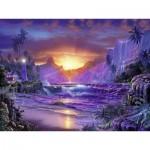 Puzzle  Ravensburger-16359 Lever du Soleil au Paradis