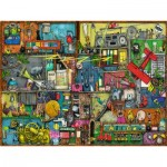 Puzzle  Ravensburger-16361 Colin Thompson - L'étagère du Bruiteur